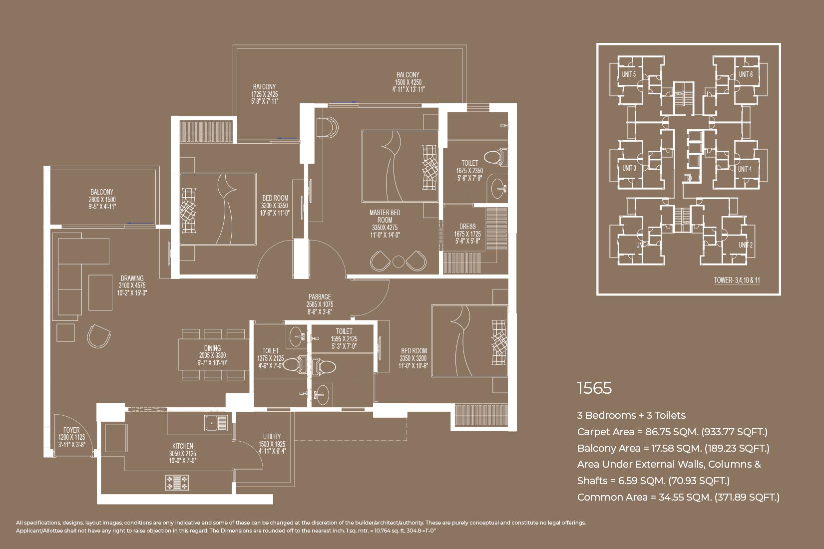 Floor Plan 1565 Sq.Ft.