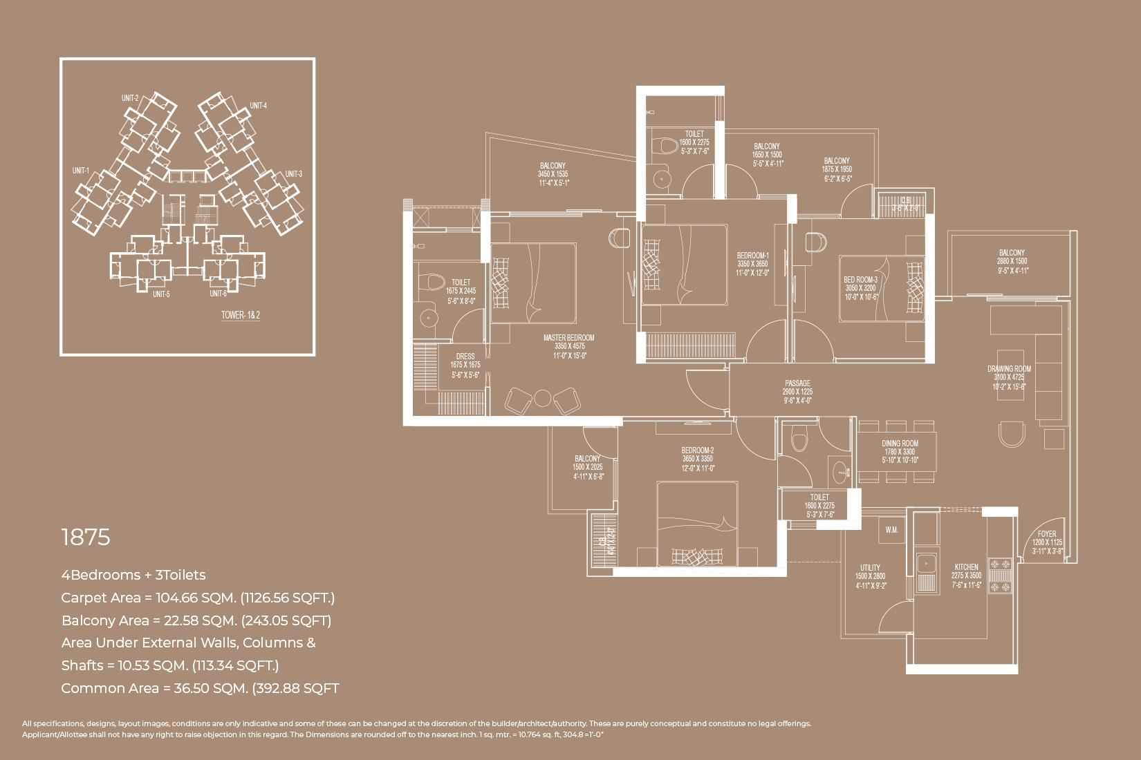 Floor Plan 1875 Sq.Ft.